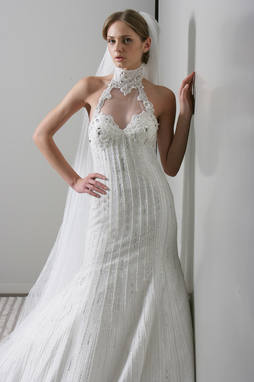 Wedding dress designs cleavage open for Wedding dress cleavage
