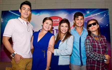 Xian Lim, Dimples, Romana, Pinky Amador, Matteo Gudicelli and Teacher Georcelle of G-Force