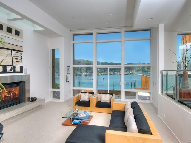 Photo of modern living room with the view