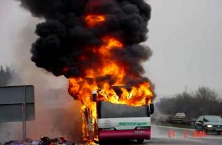 fogo, ônibus, incêndio, extintor, combate, hidrante