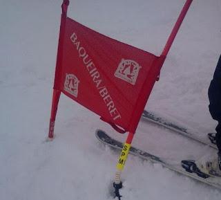 Slalom Gigante. En la recta final