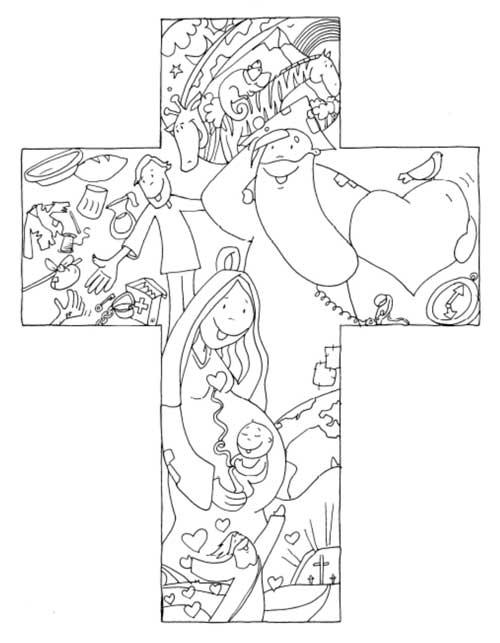 MATERIALES DE RELIGIN CATLICA CRUZDibujo de Fano