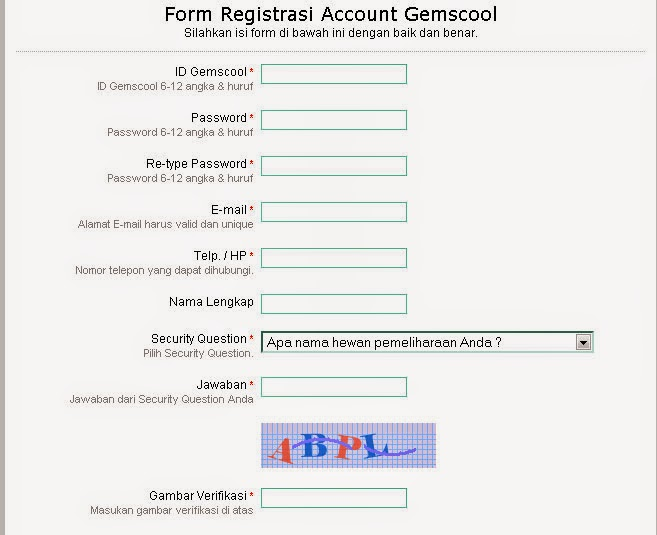 Gemscool Point Blank Register