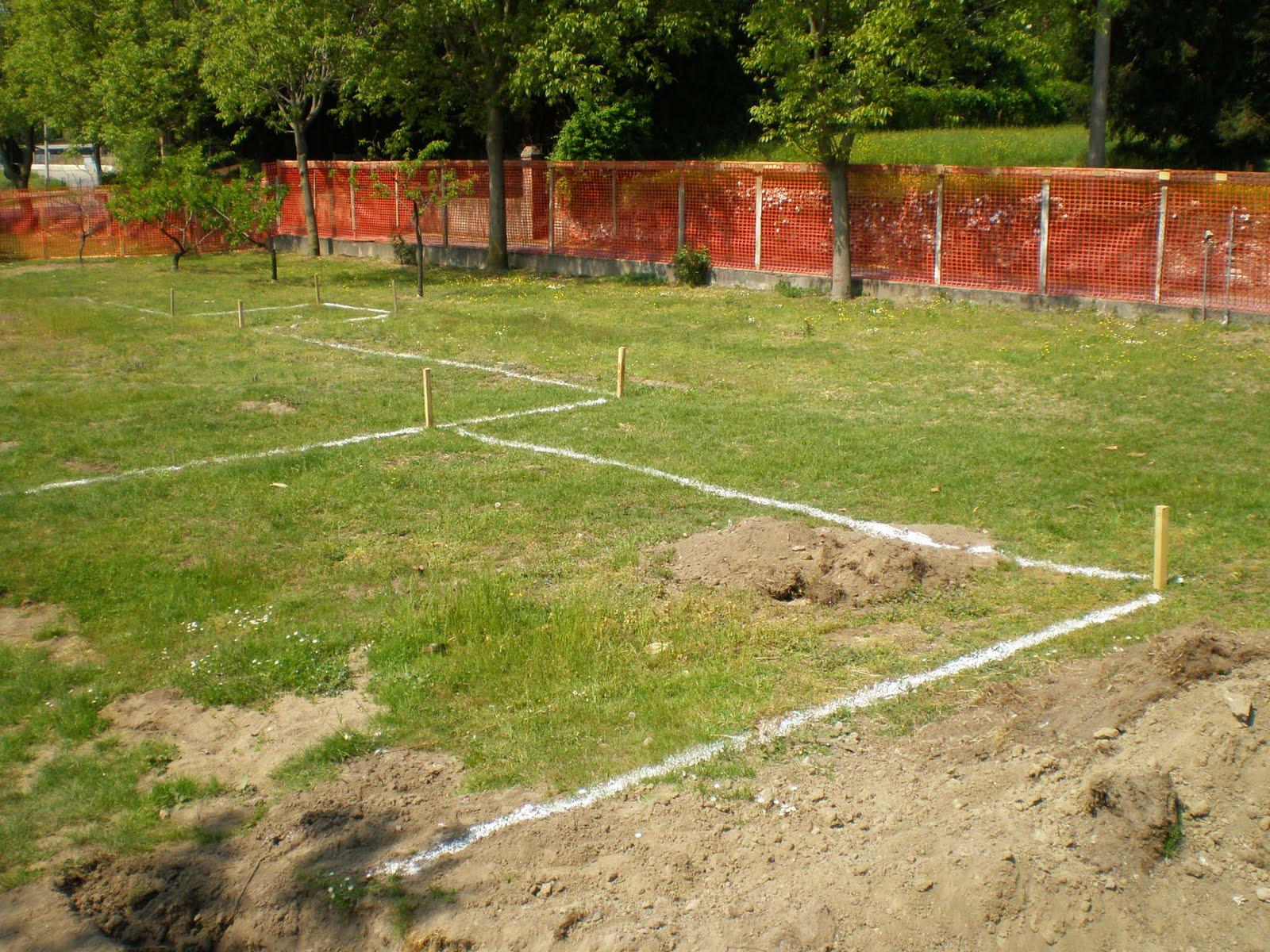 Tracciamento scavo costruire casa for Costruire in fasi piani di casa