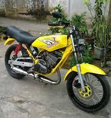modifikasi motor rx king warna kuning terpopuler