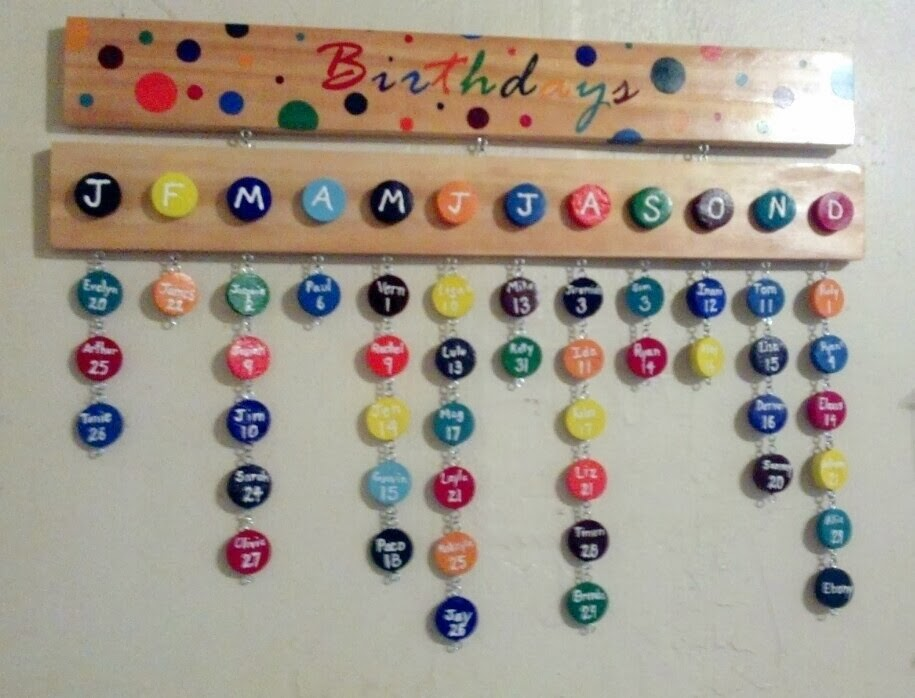 Now Not Too Long After It Was Time To Make A Birthday Chart For One Of My Dear Friends I Had Lot Work Do In Preparing The Board And