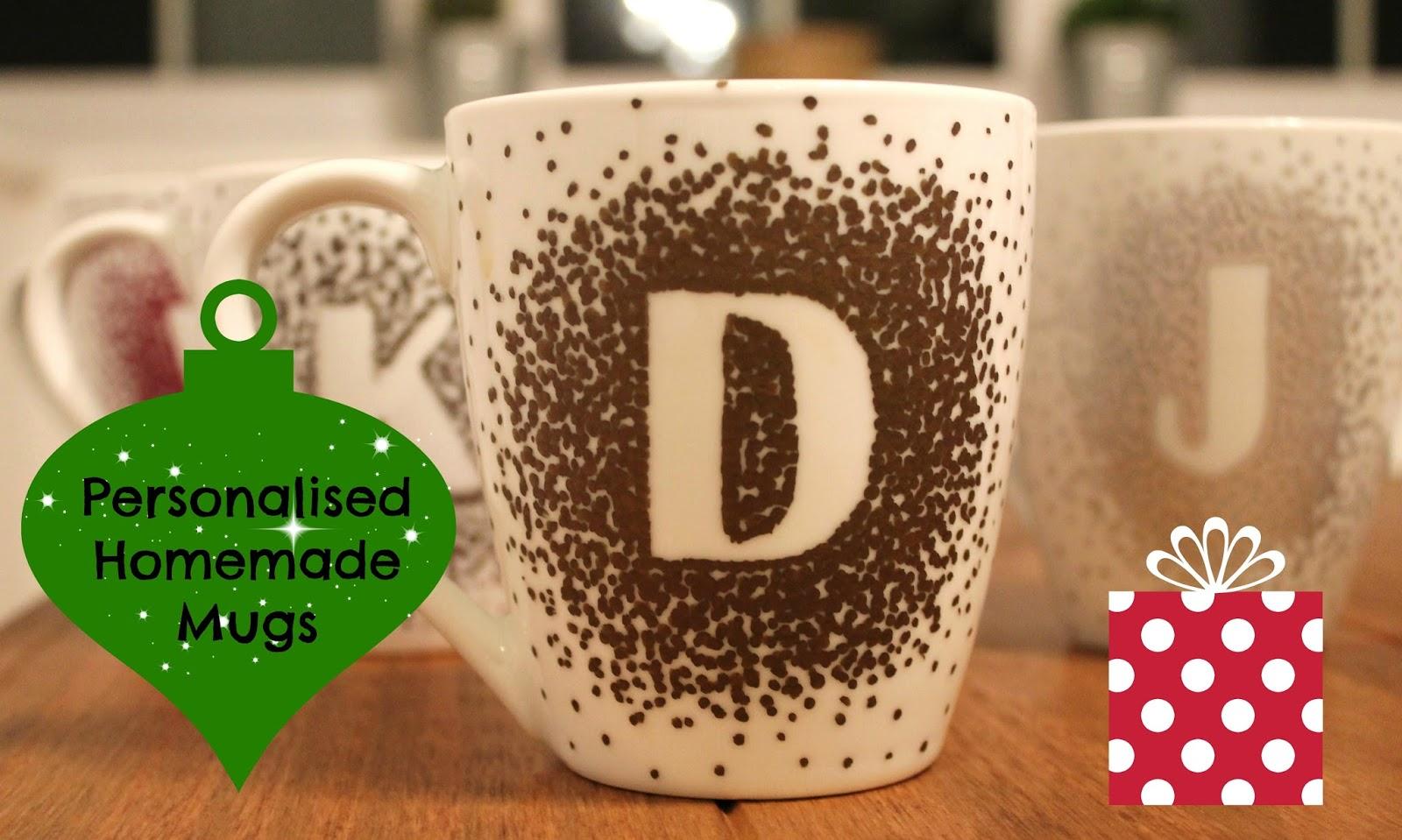Personalised Homemade Mug Christmas craft idea