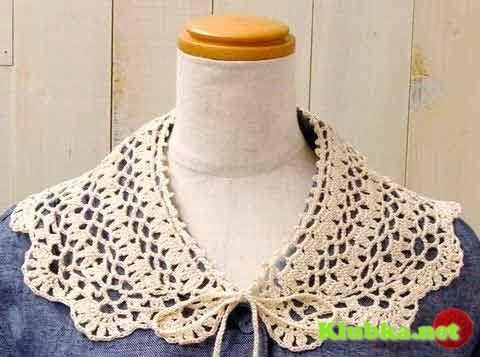 ZONA DE MANUALIDADES: Cuello para blusa tejido en crochet