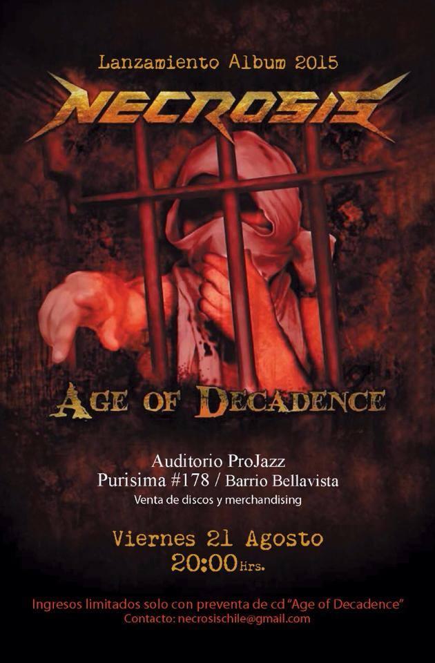 NECROSIS LANZAMIENTO AGE OF DECADENCE