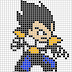 Dragon Ball Vegeta Pixel Art Templates