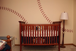 The Boys New Baseball Room