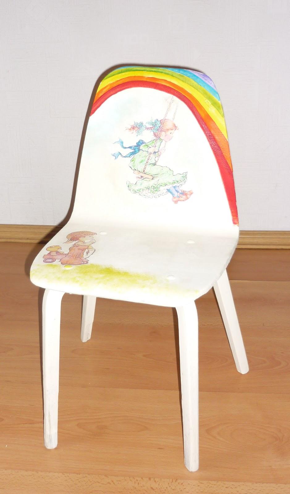 Декупаж детского стула своими руками 28