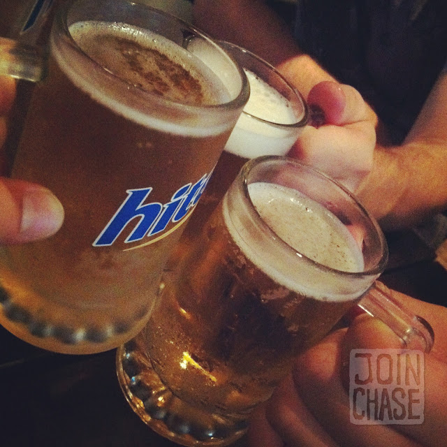 Cheers to biking from Seoul to Busan with Hite beer in Busan, South Korea.