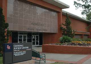 Photo of the front of the CJ Center building.