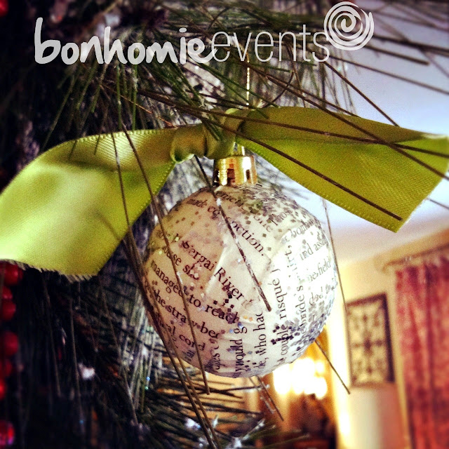 bonhomieEVENTS diy bookprint ornaments