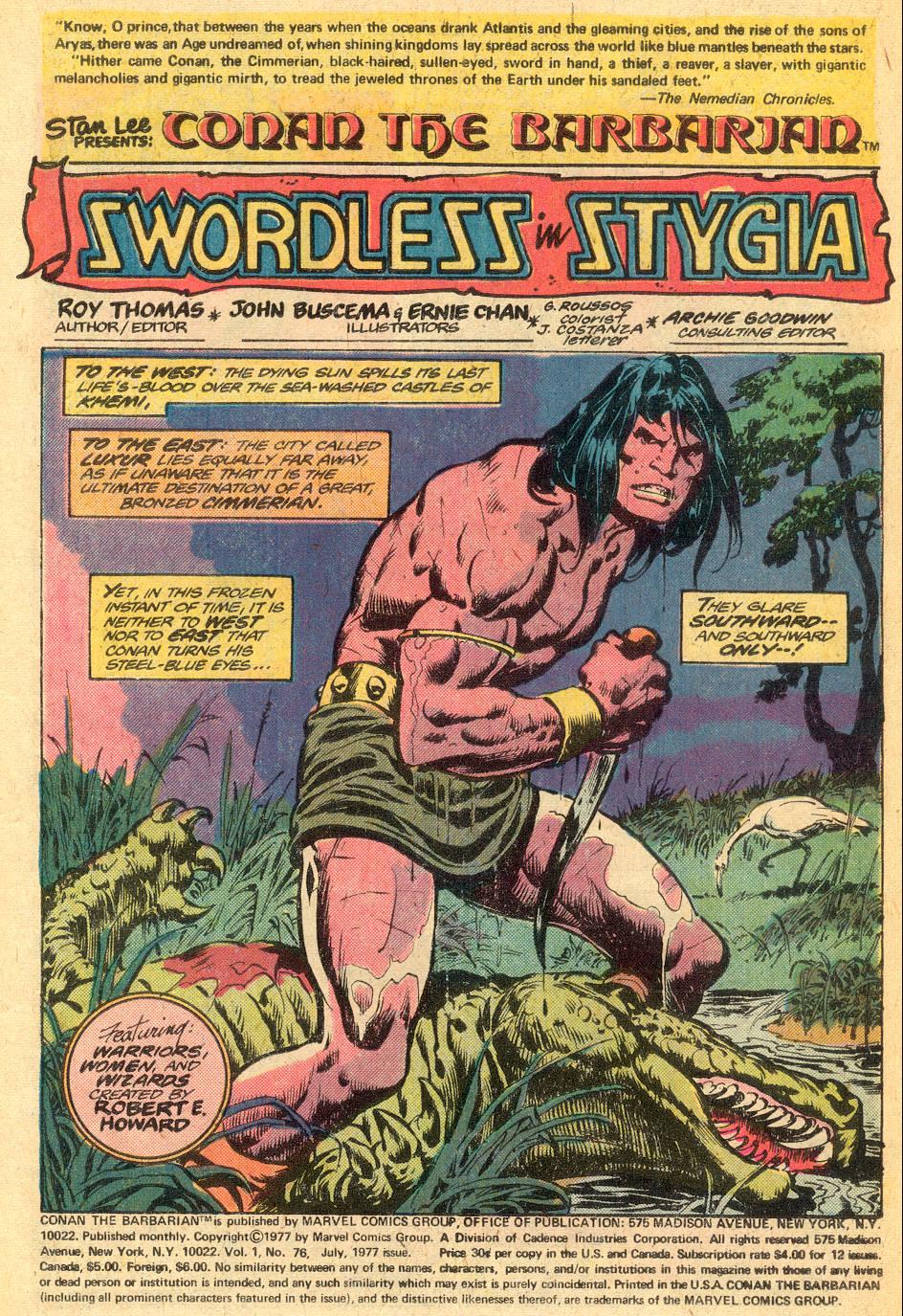 Conan the Barbarian (1970) Issue #76 #88 - English 2