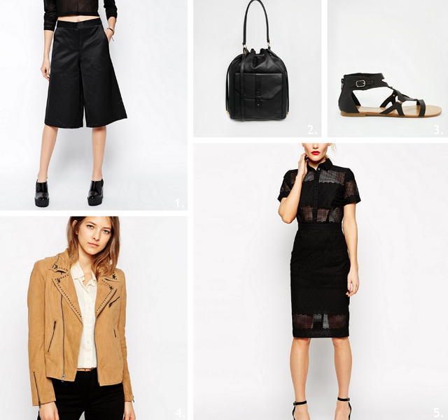 Asos, sale, shopping, 2015, code, discount, 70%, culotte shorts, trends, spring summer, shopping, suede jacket, bucket bag