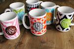 Monogrammed Mugs!