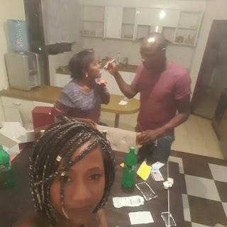 Paula Mumia with boyfriend dennis oliech