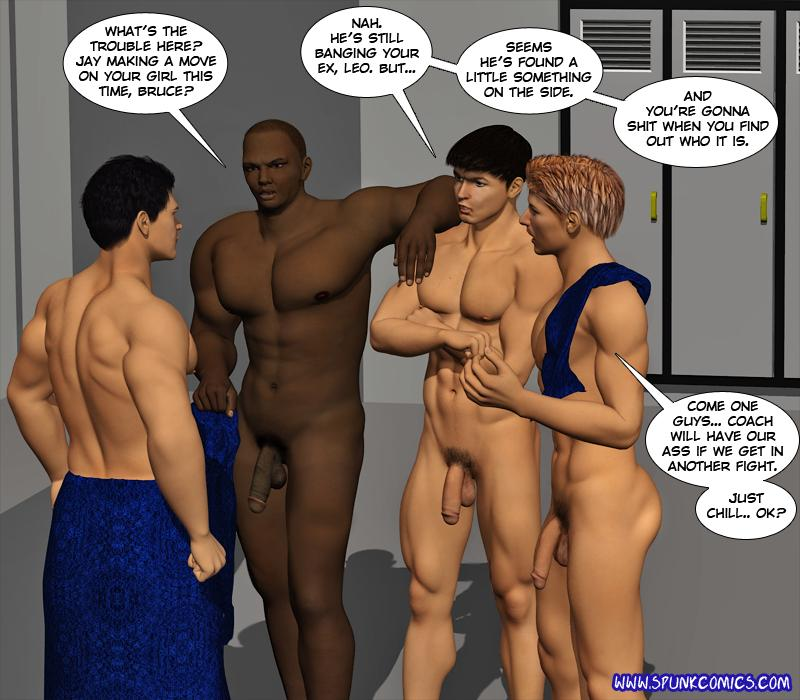 Locker men naked college room