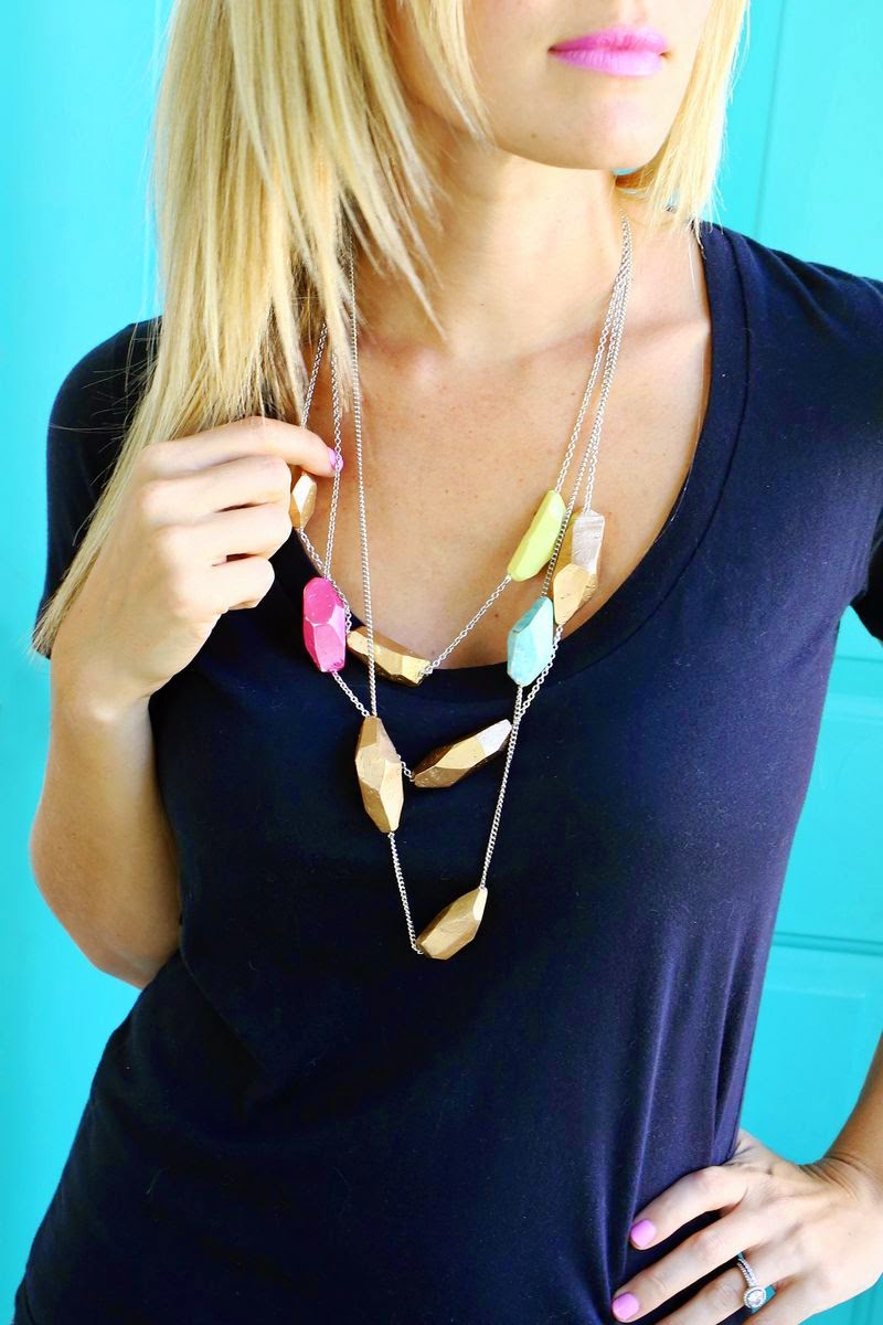 MAKE A CLAY GEOMETRIC NECKLACE IN A SNAP!