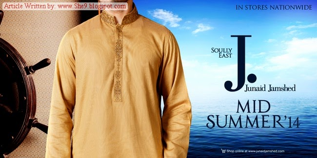 Junaid Jamshed Midsummer 2014 for Gents