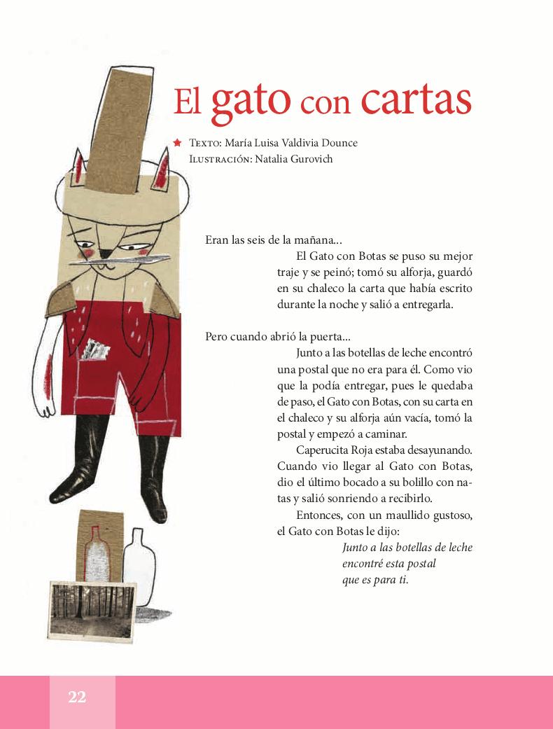 El gato con cartas - Español Lecturas 5to 2014-2015