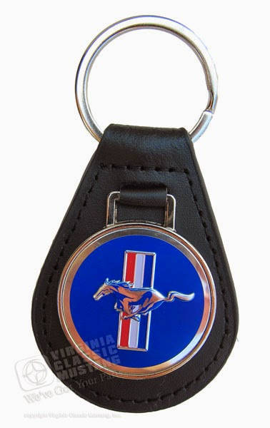 Mustang Leather Key Fob