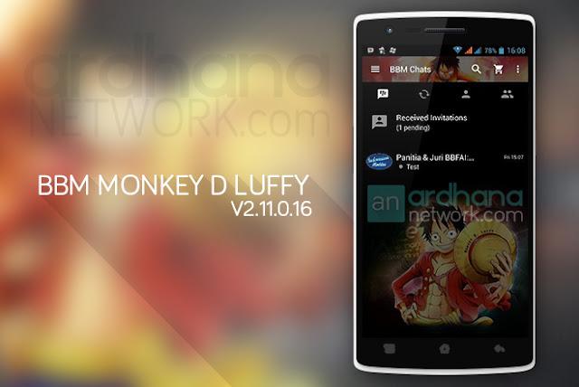 BBM Monkey D Luffy - BBM Android V2.11.0.16