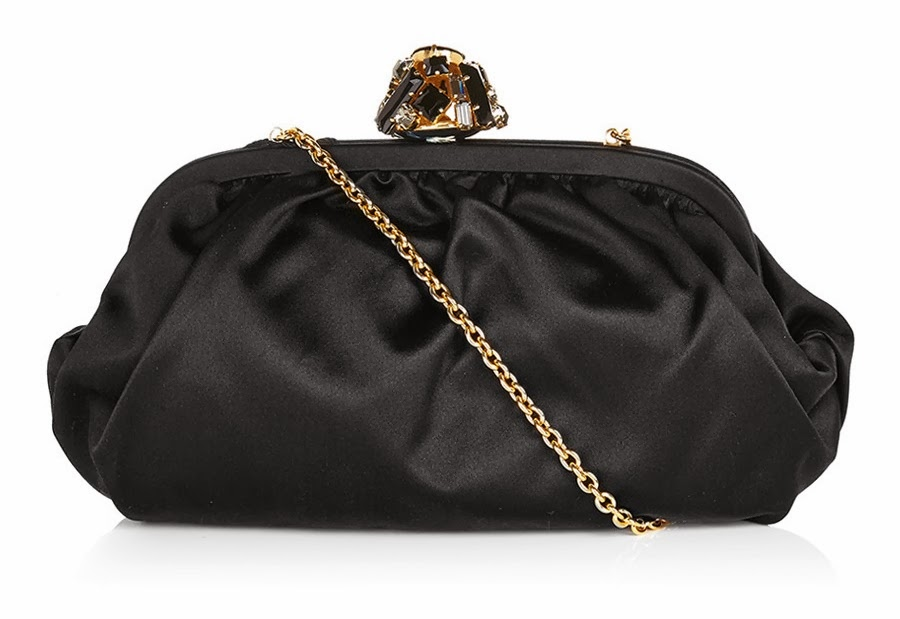 Dolce & Gabbana Satin Clutch Black