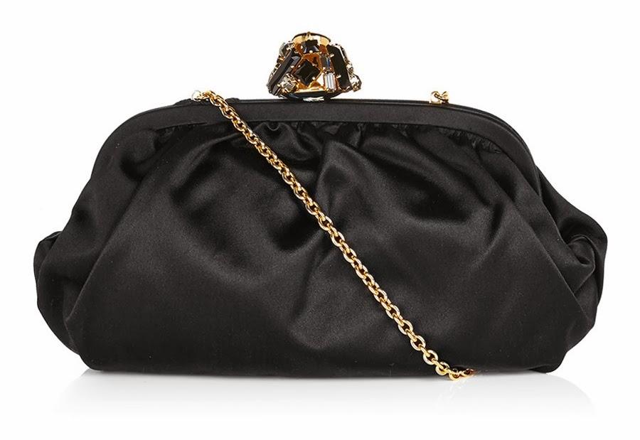 Dolce & Gabbana Satin Clutch Black