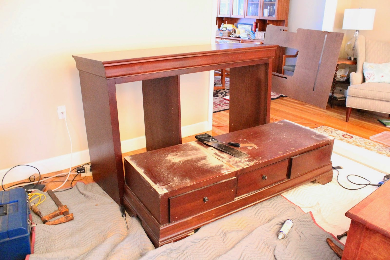 from tv armoire to banquette bench no 29 design