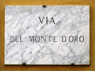 Via del Monte d'Oro (Street of the Mount of Gold) plaque, Livorno