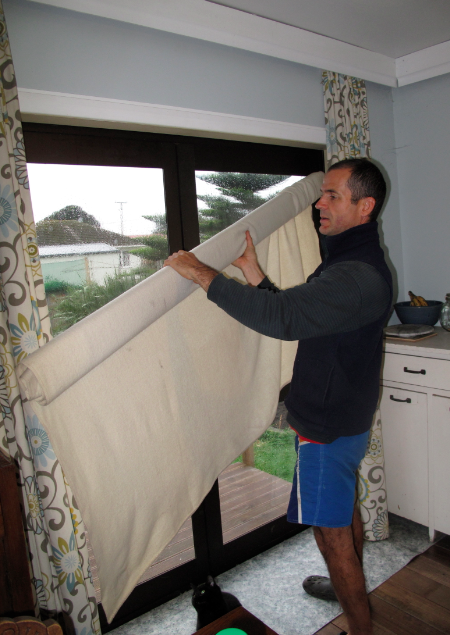 Eco thrifty renovation retrospective 14 low cost high for Blanket insulation basement walls