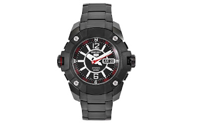 A Blog of Goodies: Daily Jewelry Deal: 72% off Seiko Men's Black Stainless Steel Watch + Free Shipping