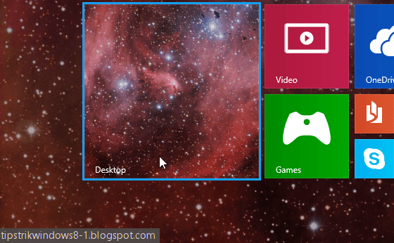 gambar background desktop di start screen