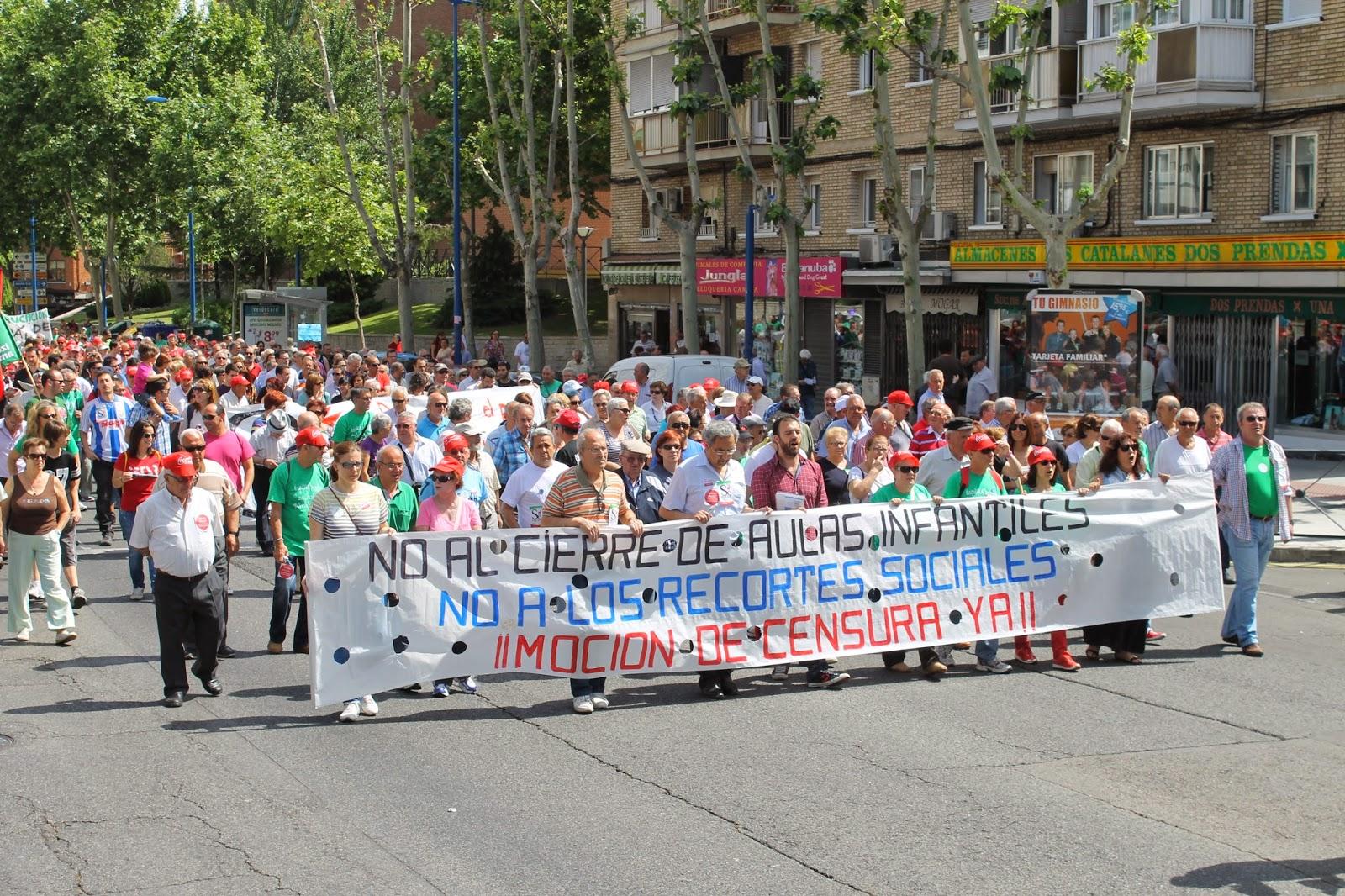 Manifestación por el cierre de escuelas infantiles