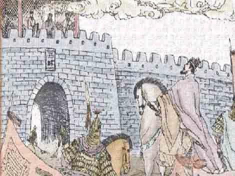 ขงเบ้งตีขิมบนกำแพงเมือง หรือกลเมืองร้าง