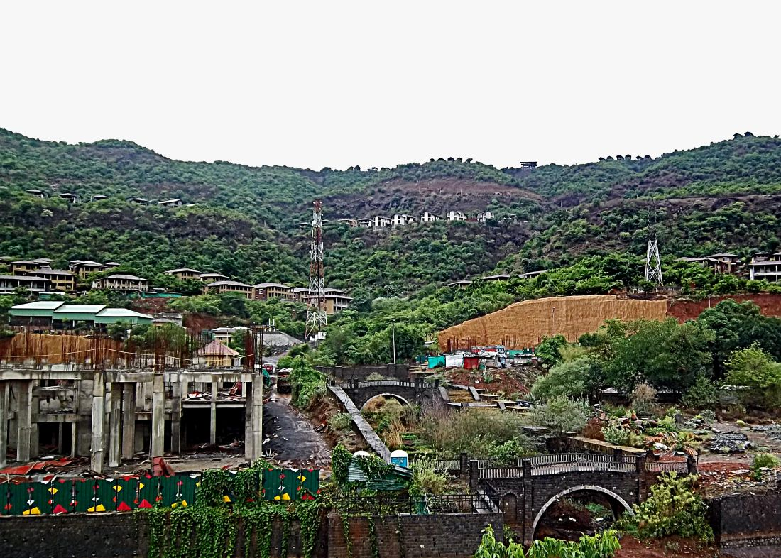 stock pictures lavasa hill city near pune