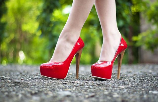 walk in heels