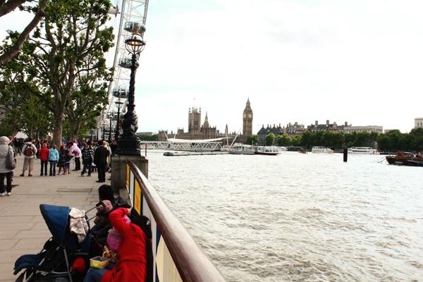 Queens Walk River Thames London City