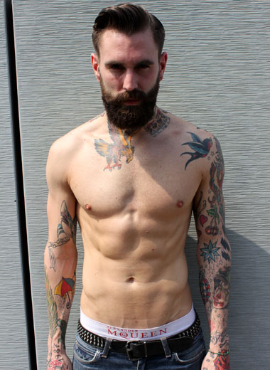 Ricki Hall shirtless