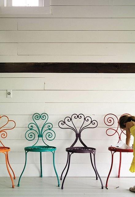 cadeiras de ferro decorativas