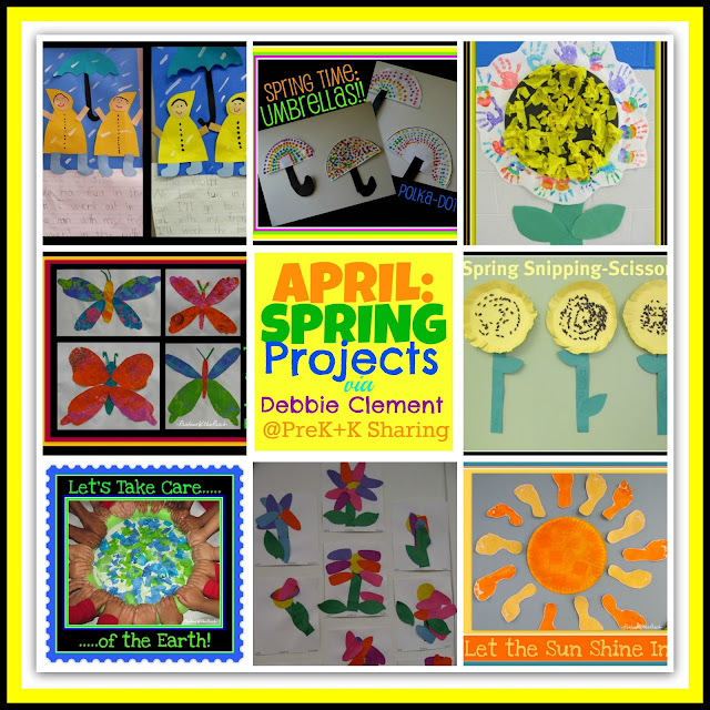 photo of: Spring Projects via Debbie Clement at PreK+K Sharing