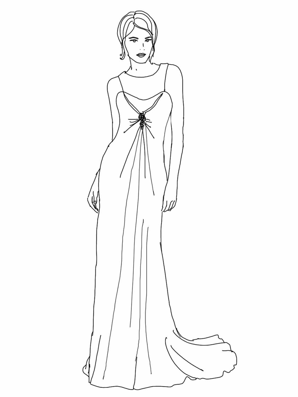 Alessas Blog: [diy] Fashion Doodle - mit Vorlage zum Ausmalen