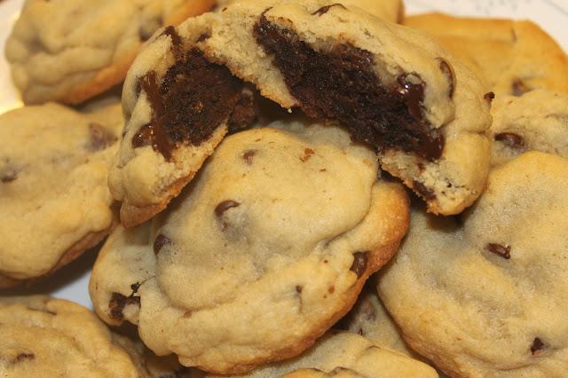 Chocolate Chip Cookies Stuffed w/ Mocha Fudge Brownies
