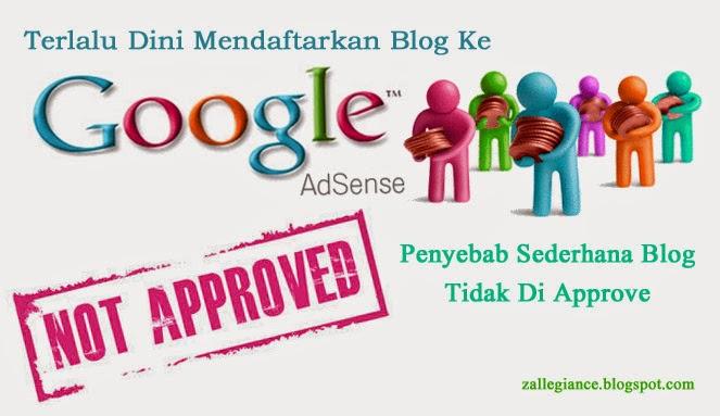 Blog Saya Ditolak Google Adsense