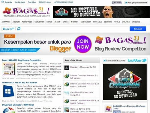 Template Asli Bagas31.com Responsive Untuk Blogger