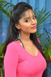 Sanam Shetty in a beautifulSkin Tight Pink Top and Skirt Looks beautiful