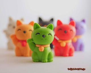 """Maneki Neko """"招き猫"""" Kucing Warna-Warni"""